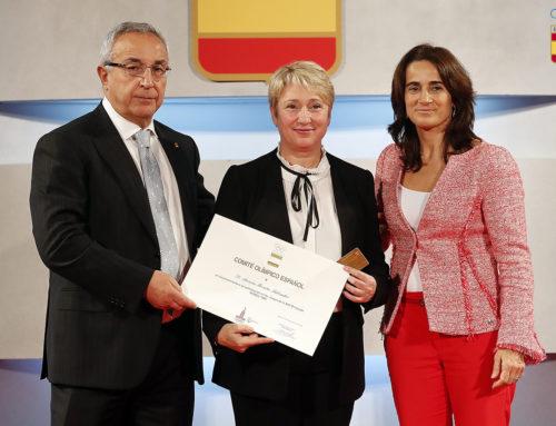 Aurora Morata, directora esportiva del Club, homenatjada per la seva participació als Jocs Olímpics de Moscou 1980