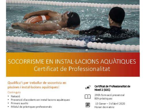 El CNG, seu de Dinàmics per a realitzar el curs oficial de Socorrisme en Instal·lacions Aquàtiques