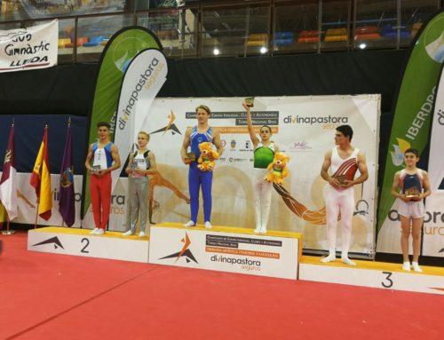 Els gimnastes del Club es pengen 22 medalles al Campionat d'Espanya