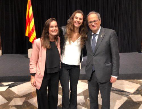 Abril Conesa, rebuda al Palau de la Generalitat pels èxits del Mundial