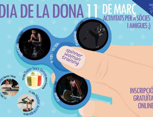 Reserva't l'11 de març! Celebrem el Dia de la Dona amb activitats TOP!