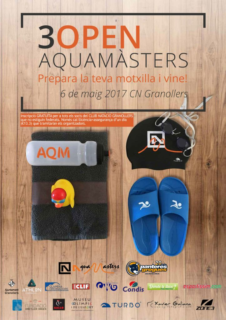 Cartell aquamasters club nataci granollers for Piscines granollers