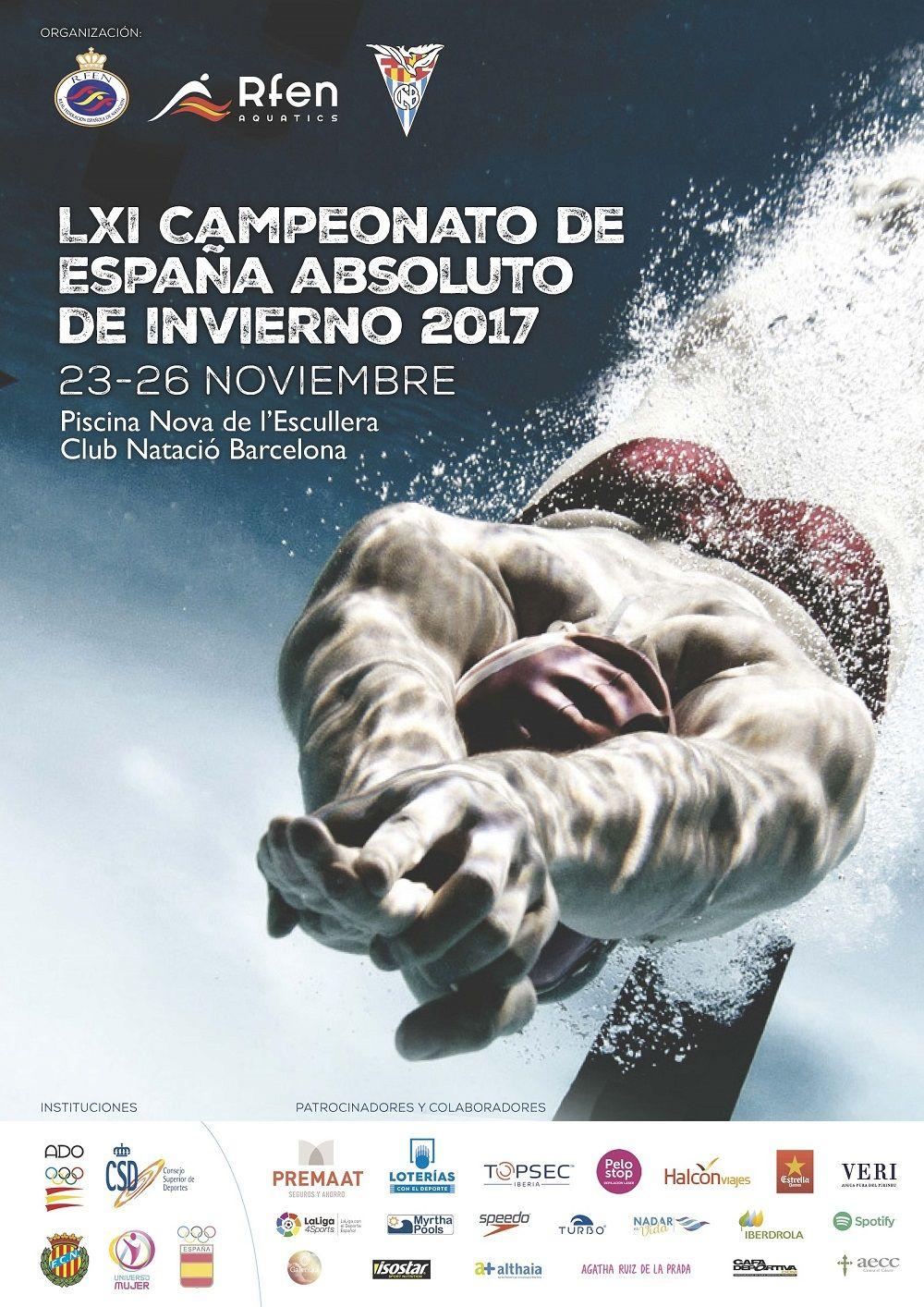 8 nedadors del Club, al Campionat d'Espanya Absolut